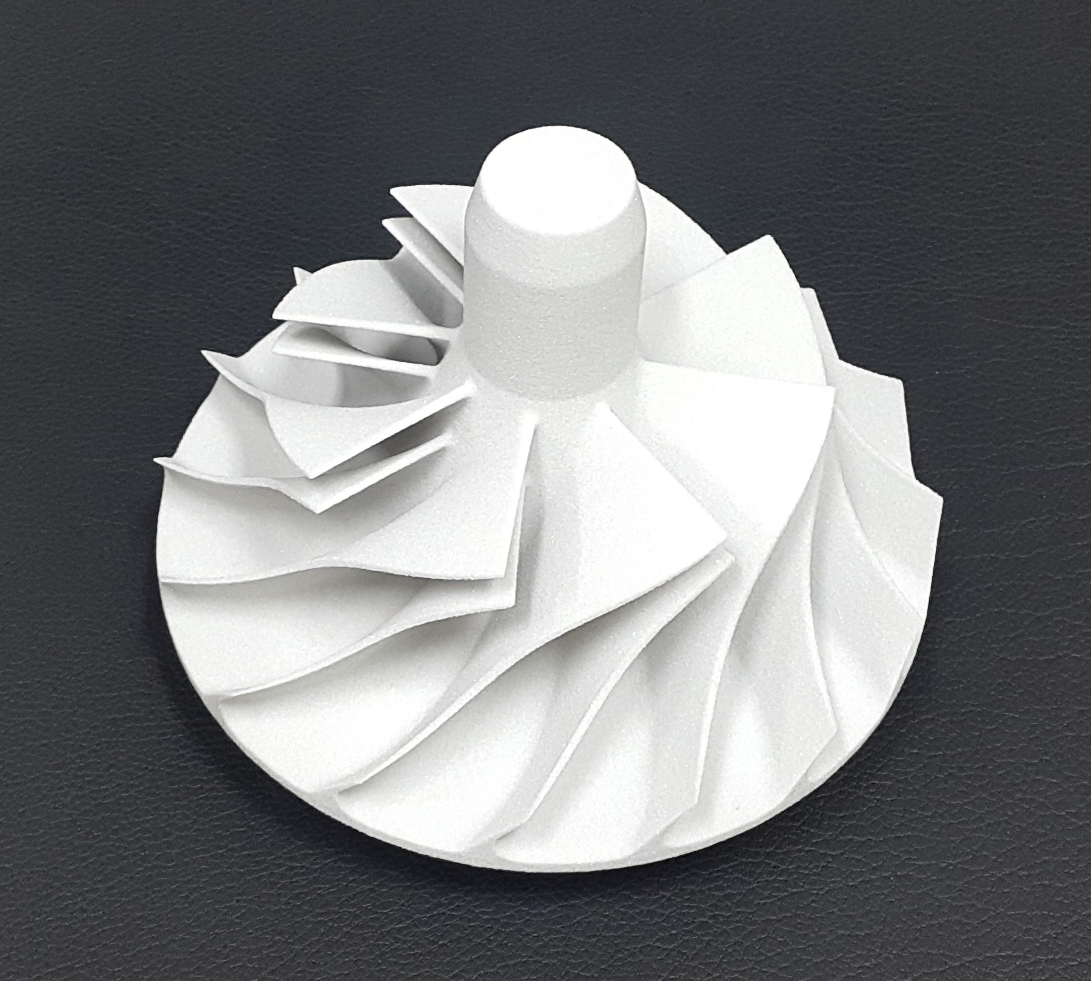 3D-printed pattern of a turbine wheel