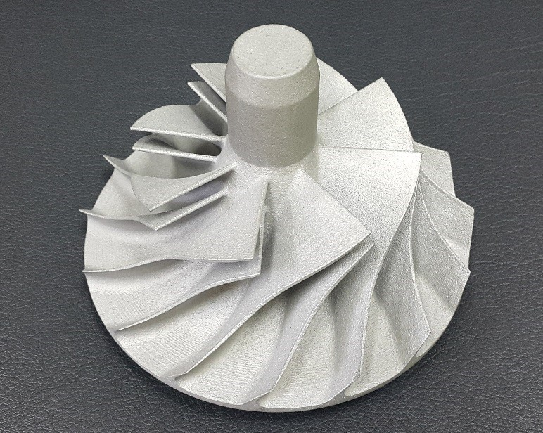 Metal turbine wheel