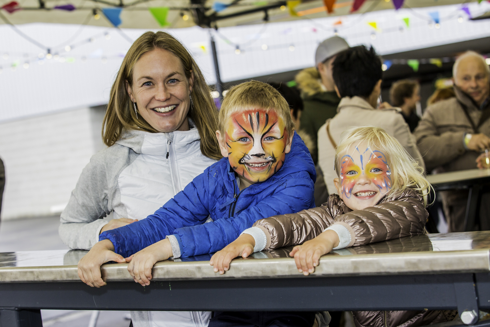 Two little tigers attend Family Day