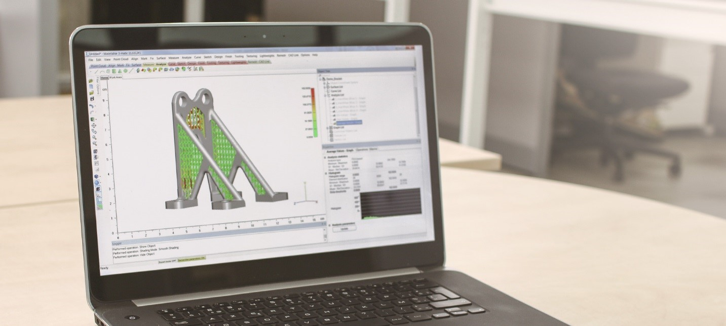 Redesigning the part in Materialise 3-matic