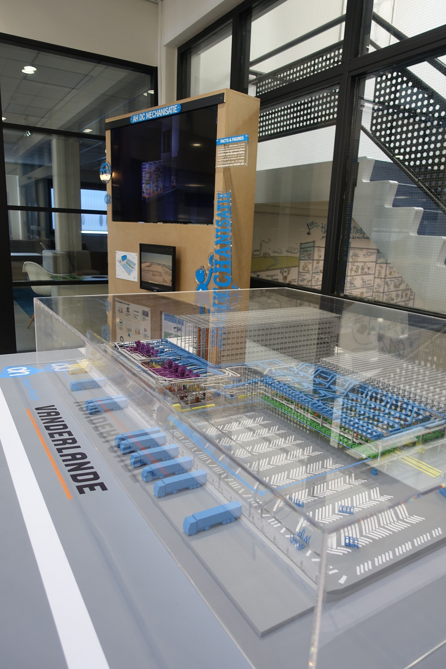 The 3D-printed maquette at Albert Heijn headquarters