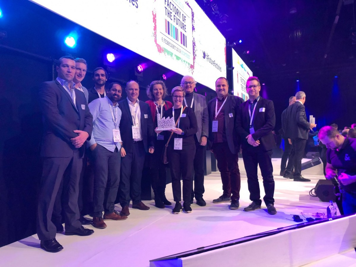 The Materialise team at the Factory of the Future 4.0 award ceremony