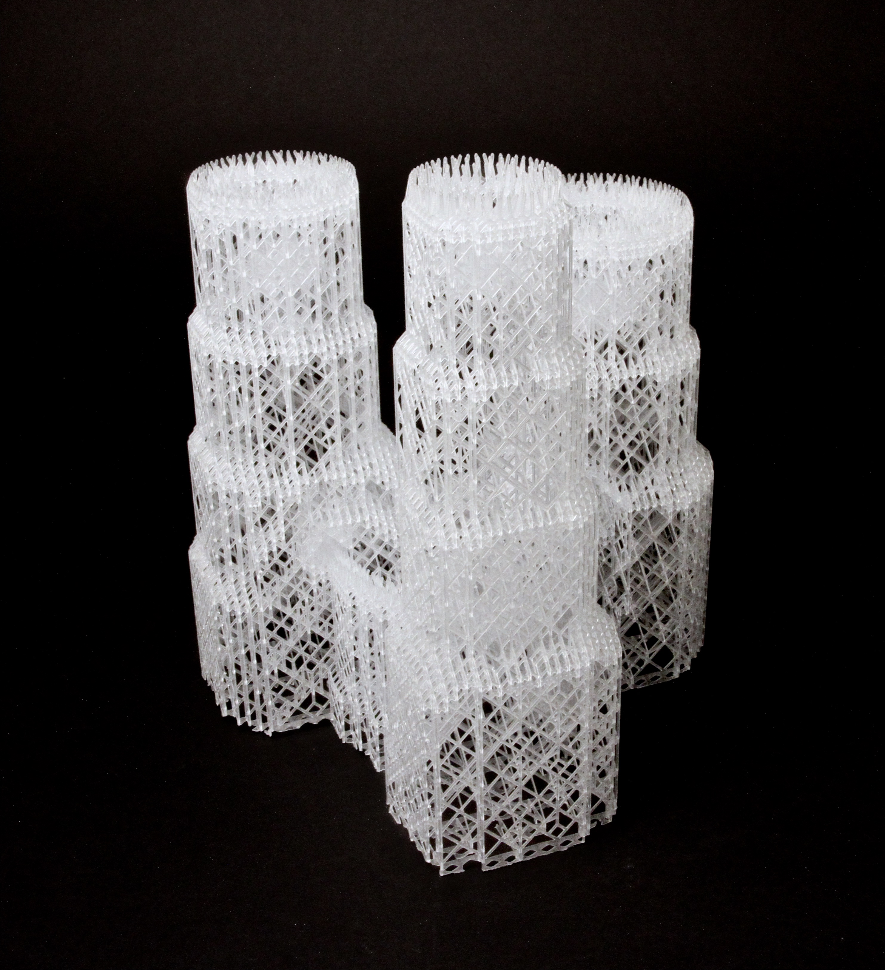 Support structure for the Skafaldo side table printed by Materialise