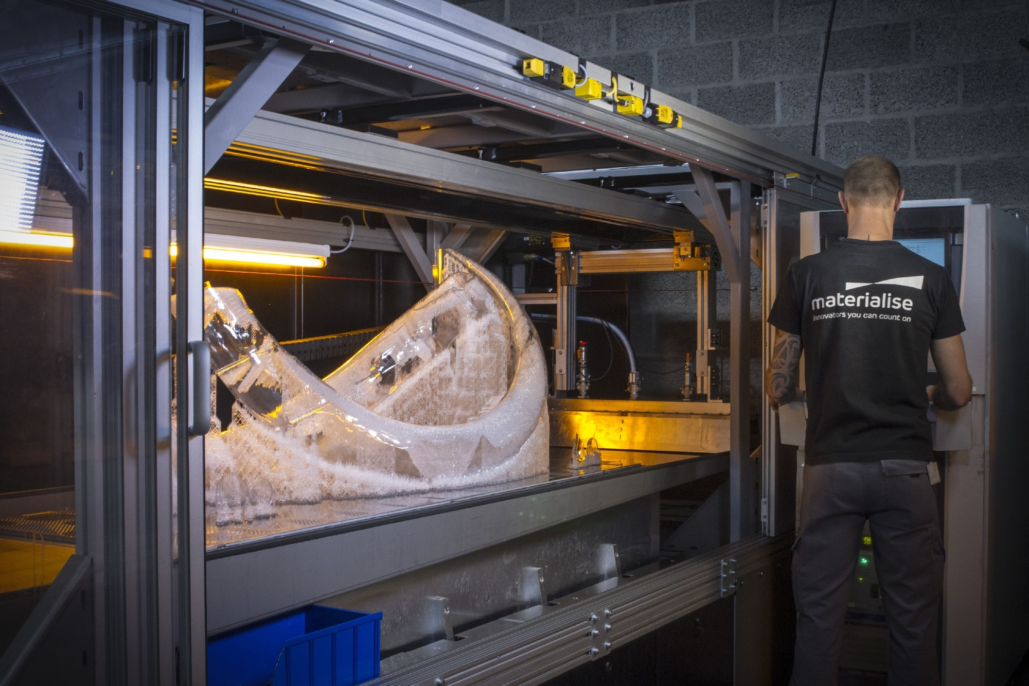 "The Mammoth of Lier took 1259 hours to 3D print on the Materialise ""Mammoth Stereolithography"" printers"