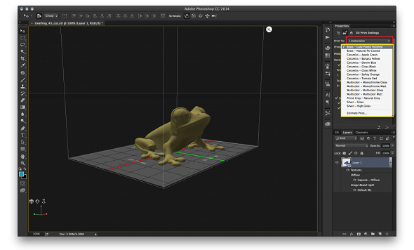 Photoshop CC Now Supports 3D Printing through i.materialise