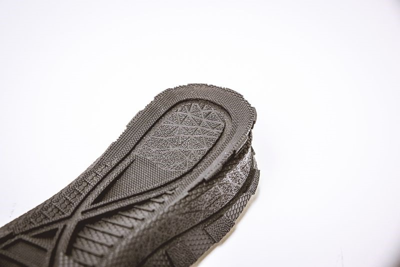 Textured master of a shoe sole, produced by Materialise using Materialise 3-matic