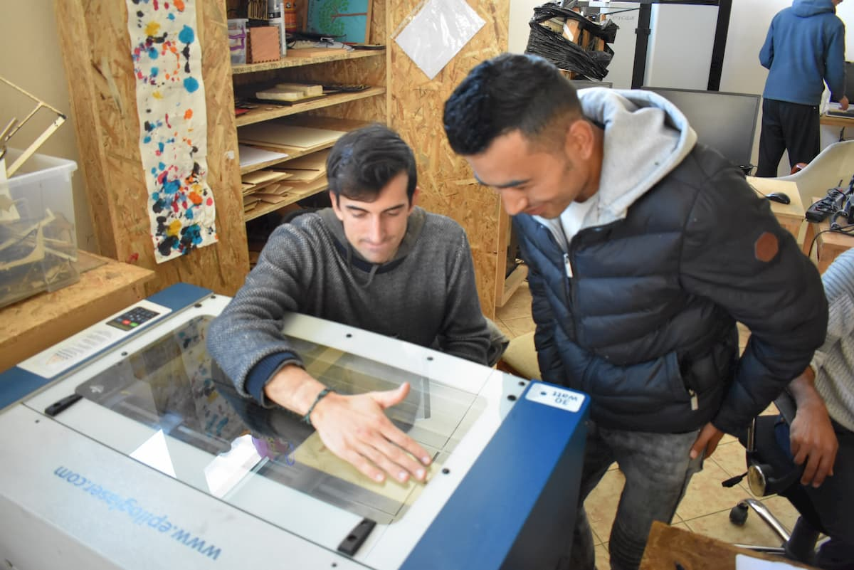 Laser cutter at Habibi.works