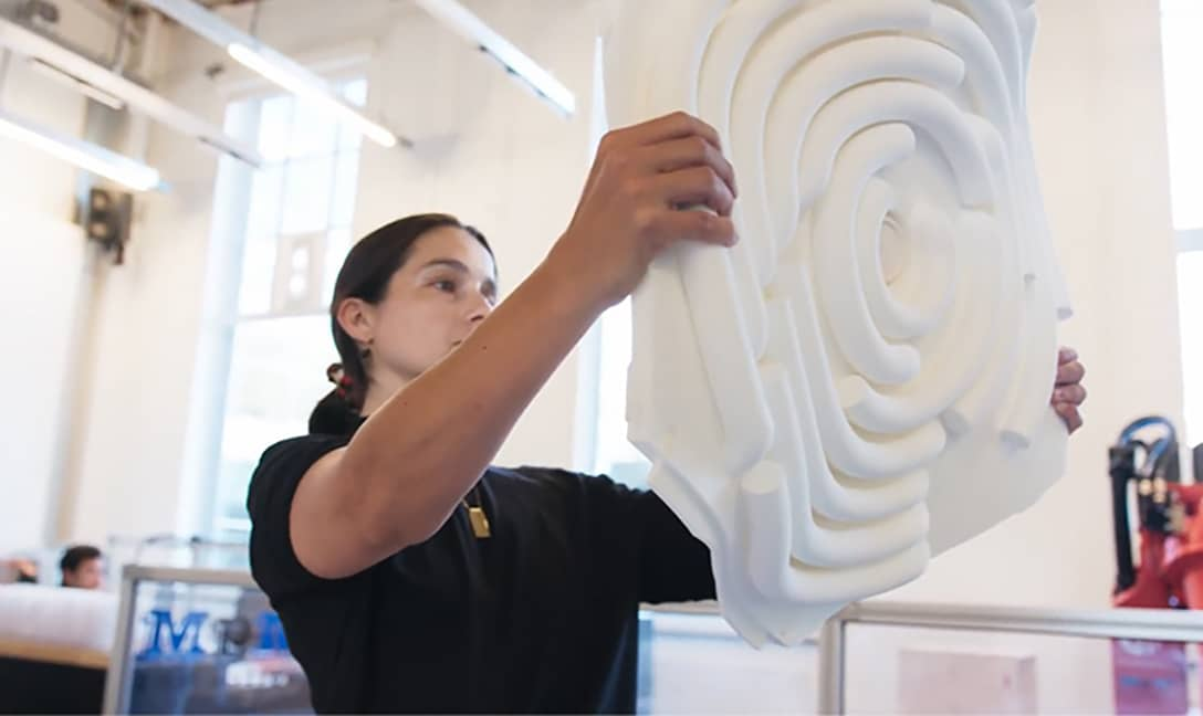 The TU Delft team decided to use 3D printing to construct the acoustics panels