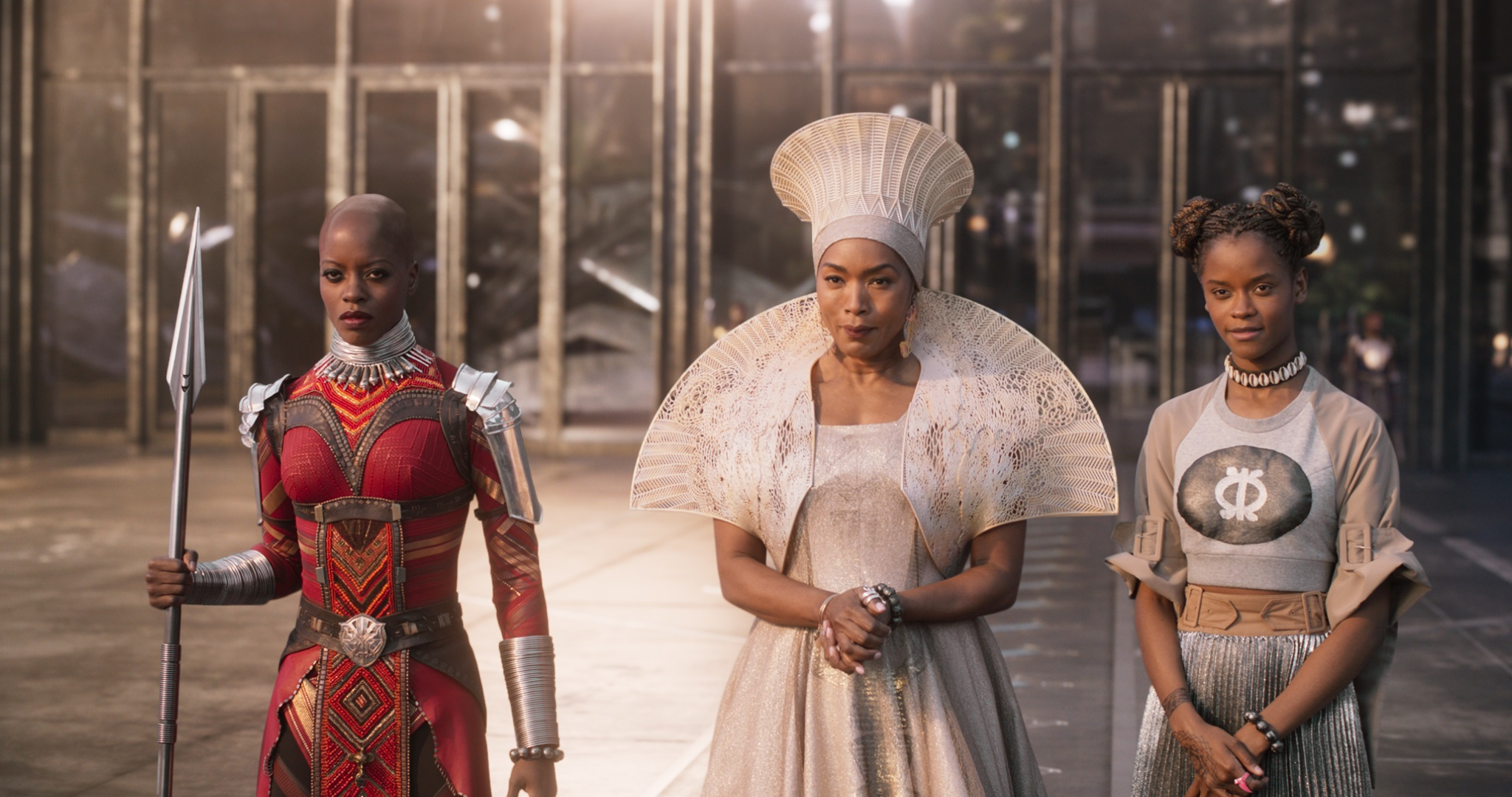 Queen Ramonda with 3D-printed crown and mantle | Image courtesy of Marvel/Disney/Black Panther