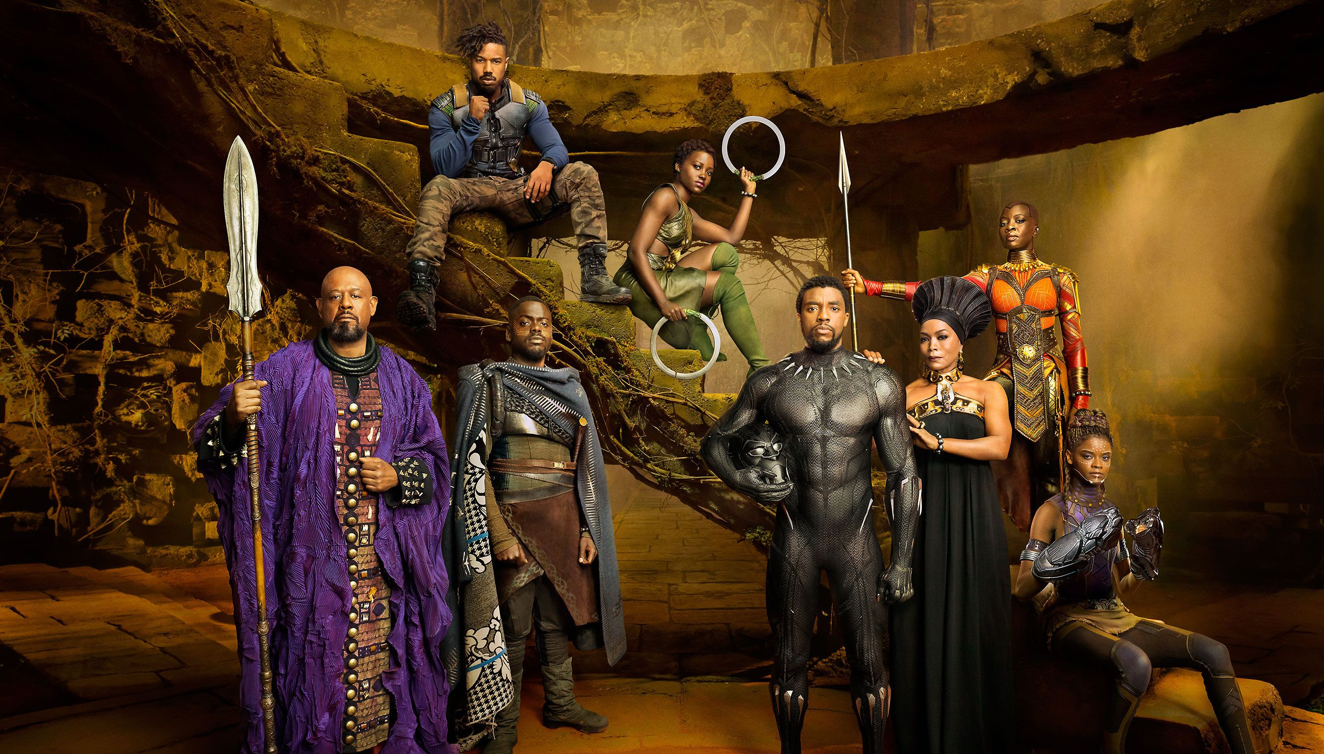 Black Panther's costumes are inspired by the old and the new | Image courtesy of Marvel/Disney/Black Panther