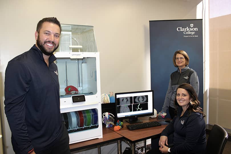 Members of Clarkson College using Mimics Innovation Suite