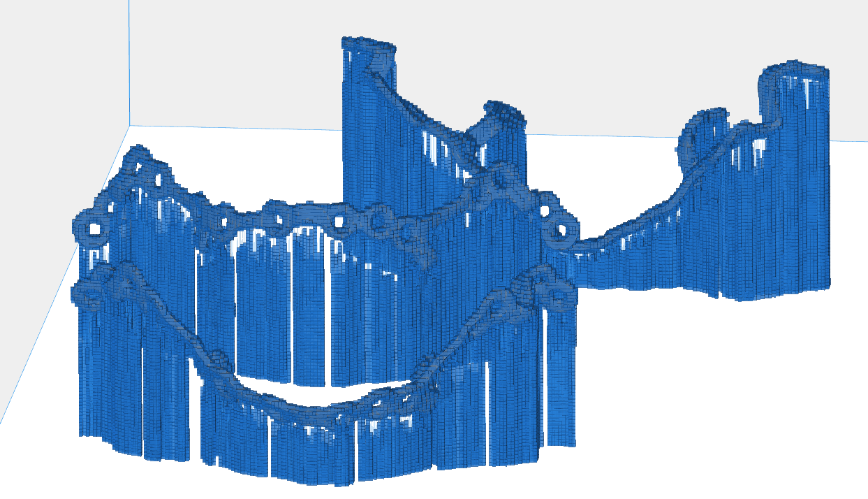 voxelization of three different part orientations