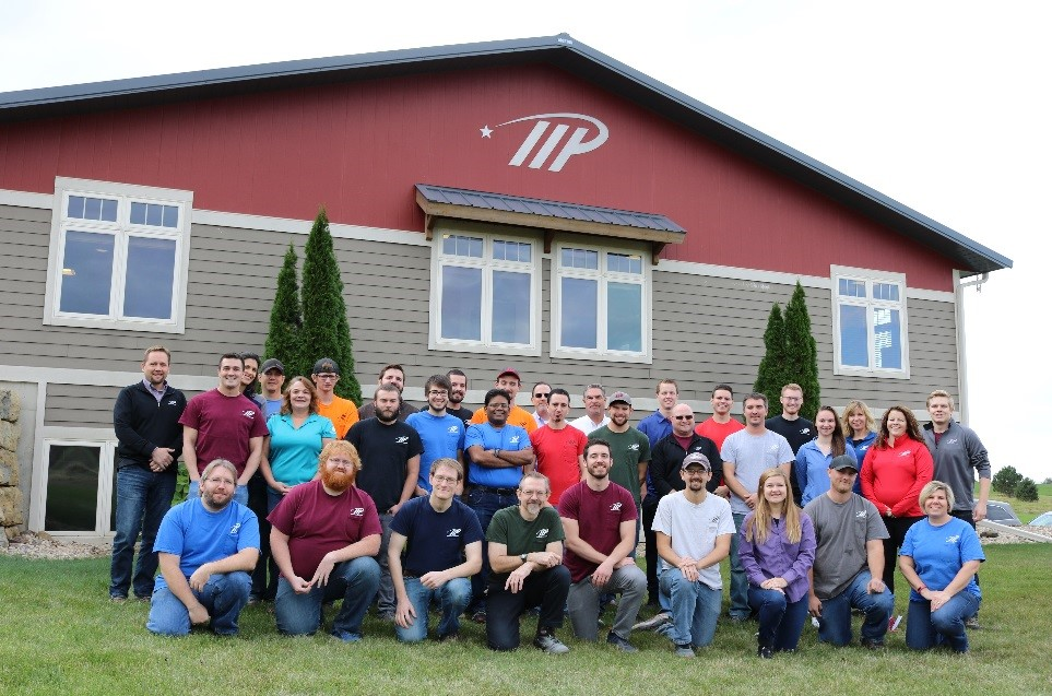 The entire Midwest Prototyping staff, 34 full-time employees