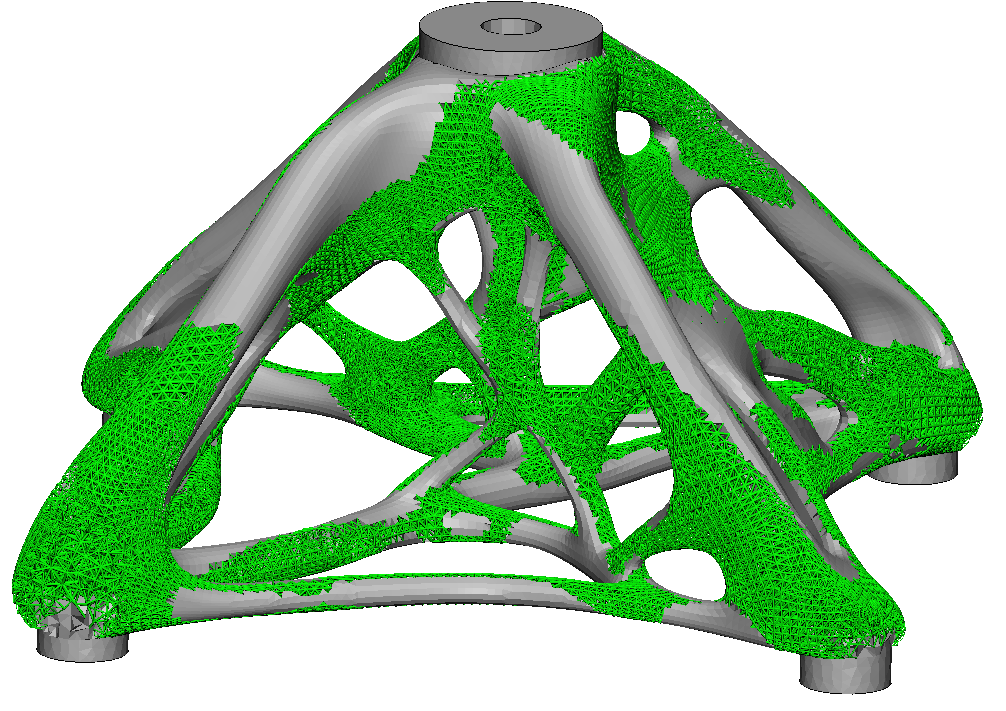 Solid mesh with lattice structures