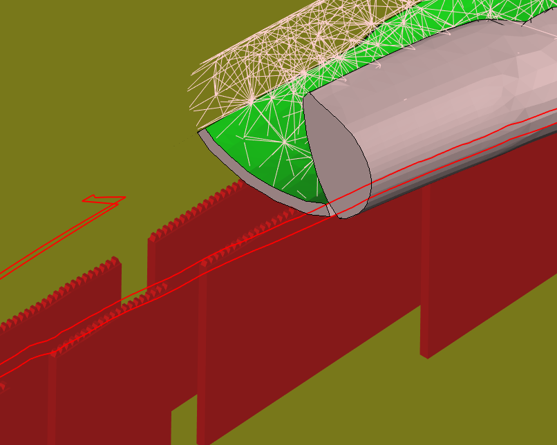 Additional solid material under the lattice