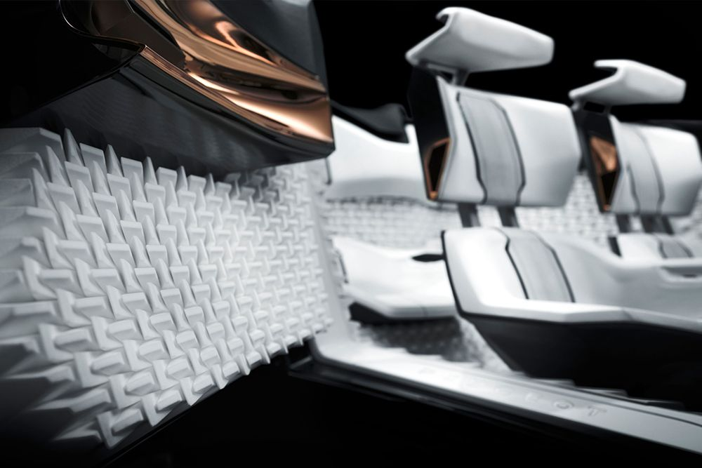 Acoustic Interiors (PA 12) for the PEUGEOT FRACTAL Concept Car