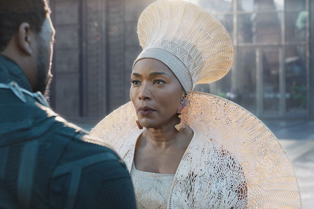 Headdress and mantle (PA-12) featured in the film Black Panther - © Marvel Studios 2018