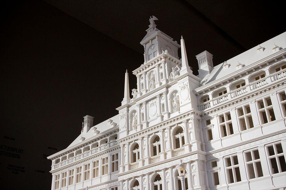 1.7-meter-long scale model of Antwerp's City Hall (ProtoGen White) - Designed by Mindscape 3D