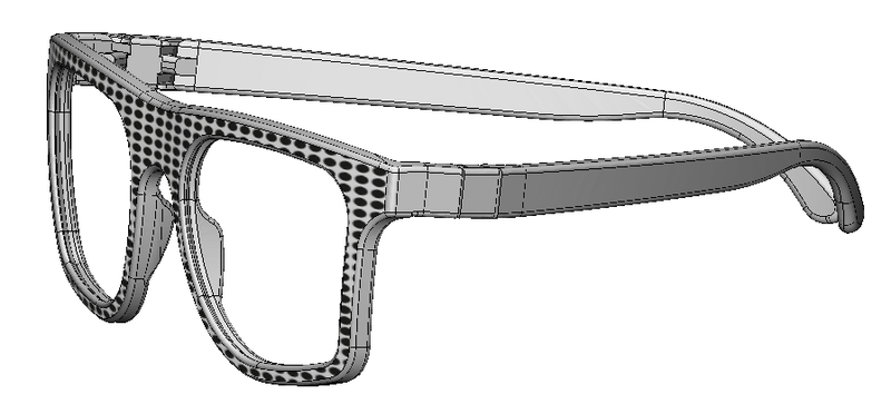 3D texturing software, glasses, step 2