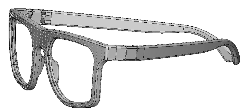 3D texturing software, glasses, step 3