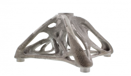 Metal support structures generates with Materialise Magics