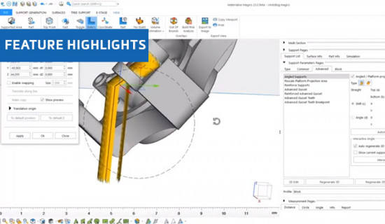 Automated Angled Support in Materialise Magics