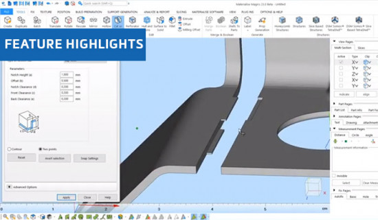 Flexible Lap Joint Cuts in Materialise Magics