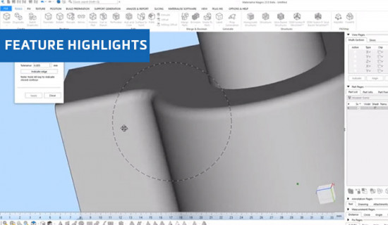 Generating Fillets in Materialise Magics