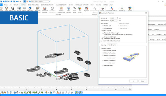 How to use 2D placement tools in Materialise Magics