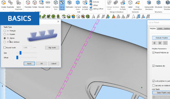 How to cut 3D models in Materialise Magics