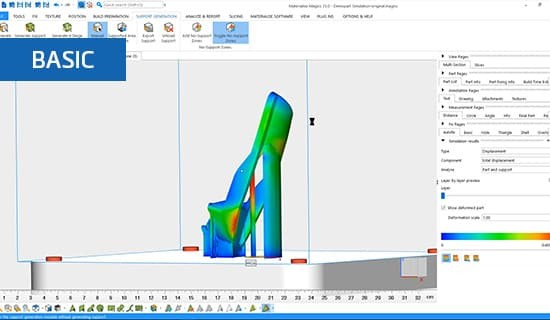 Analyzing simulation results and modifying build in Materialise Magics