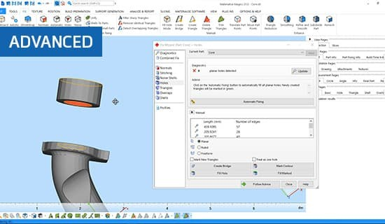 All about the manual fixing tools in Materialise Magics