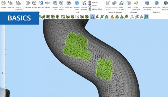 How to mark surfaces in Materialise Magics