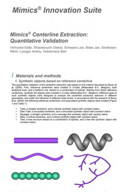 Mimics® Centerline Extraction: Quantitative Validation