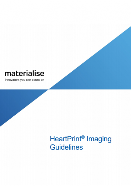 Materialise HeartPrint Imaging Guidelines