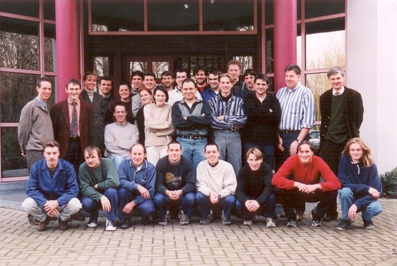 The Materialise team back in the 1990s – with the younger versions of some very familiar faces for Materialise partners and customers