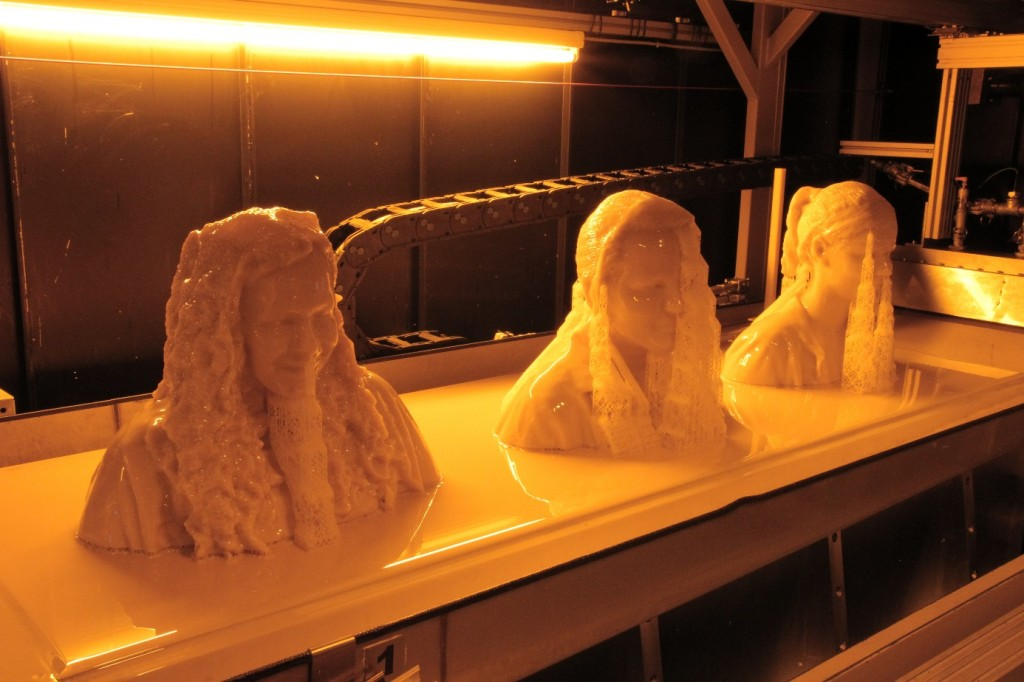 The busts were then printed in mammoth stereolithography.