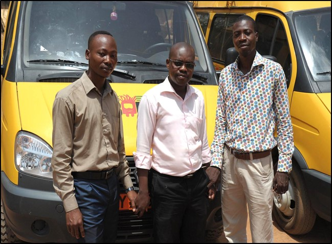 The Baobab Express's three co-managers.