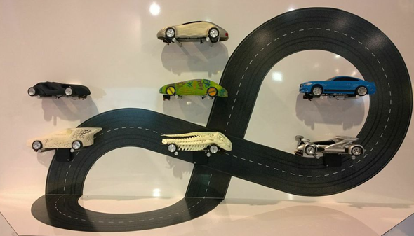 3D-printed slotcars from the Euromold race