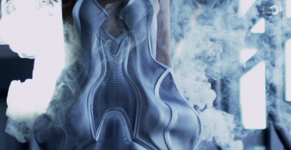 Screenshot of the Smoke Dress from Hardware Couture