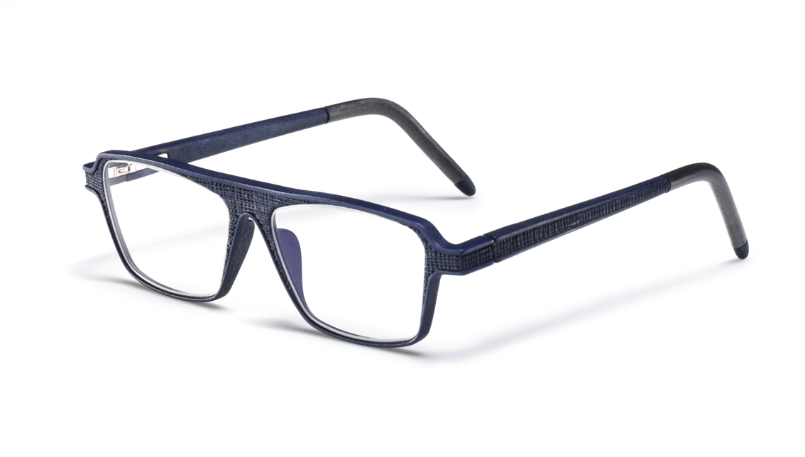 Yuniku から3Dプリントした眼鏡 (Linen-Dark-Blue) HOYA Materialise Hoet Design Studio