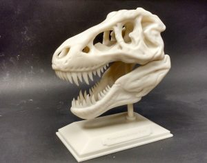 SLA model of a T. Rex printed by Realize