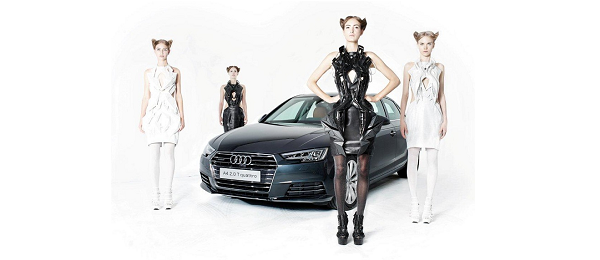 A Drive for Fashion: FashionTech Designer Anouk Wipprecht collaborates with Audi!